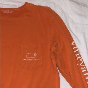 orange long sleeve vineyard vines shirt